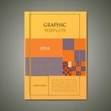 Opuscolo astratto di vettore, progettazione grafica Fotografie Stock