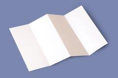 Opuscolo in bianco Immagini Stock