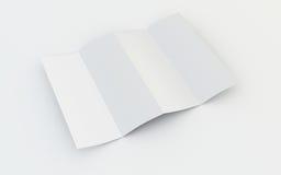 Opuscolo in bianco illustrazione di stock