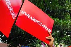 Opuscolo con la lettera di Hashtag Immagini Stock Libere da Diritti