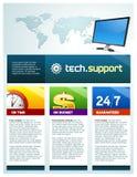 Opuscolo del supporto tecnico Immagini Stock