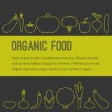 Opuscolo dell'alimento biologico Fotografia Stock Libera da Diritti