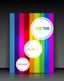 Opuscolo dell'arcobaleno di vettore Fotografie Stock