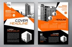 Opuscolo di affari Disegno dell'aletta di filatoio Modello degli opuscoli a4 Fischio della copertura royalty illustrazione gratis