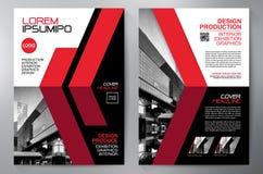 Opuscolo di affari Disegno dell'aletta di filatoio Modello degli opuscoli a4 Fischio della copertura illustrazione di stock