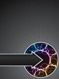 Opuscolo di azienda al neon astratto Fotografie Stock
