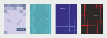 Opuscolo geometrico, aletta di filatoio, modello, identità corporativa Royalty Illustrazione gratis