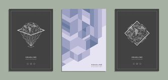 Opuscolo geometrico, aletta di filatoio, modello, identità corporativa Illustrazione di Stock