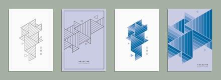 Opuscolo geometrico, aletta di filatoio, modello, identità corporativa Illustrazione Vettoriale