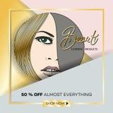 Opuscolo-modello di affari per i saloni di bellezza e hairdressing-9 Fotografia Stock