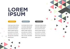 Opuscolo moderno bianco dell'opuscolo di affari, aletta di filatoio, modello di copertura illustrazione di stock