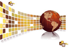 Opuscolo moderno per il commercio globale di sviluppo illustrazione di stock