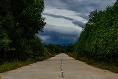 Opustoszała droga w Środkowym Wietnam obraz stock