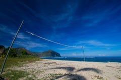 Opustoszała plaża obraz stock