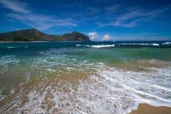 Opustoszała plaża obraz royalty free