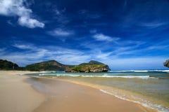 Opustoszała plaża zdjęcie stock
