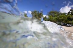 Opustoszała plaża obrazy stock