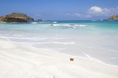 Opustoszała plaża zdjęcia stock