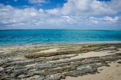 Opustoszała plaża tajemnicy wyspa w Vanuatu Fotografia Stock