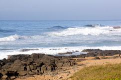 Opustoszała Sheffield plaży północ Durban Południowa Afryka Zdjęcie Stock