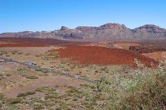 Opustoszały krajobraz teide park narodowy na tener zdjęcia royalty free