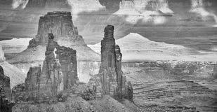 Opustoszały krajobraz w Canyonlands parku narodowym, usa obraz stock