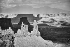 Opustoszały krajobraz w Canyonlands parku narodowym, usa zdjęcie royalty free
