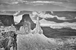 Opustoszały krajobraz w Canyonlands parku narodowym, usa obrazy stock