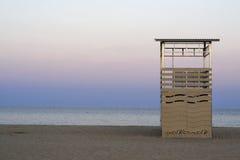 opustoszały plaża ranek Obrazy Royalty Free