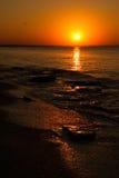 opustoszały plaża zmierzch Fotografia Royalty Free