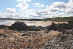 Opustoszały Plażowy Szkocja obraz stock