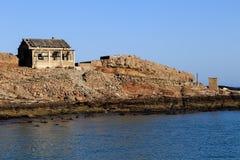 Opustoszały buiding na Halifax wyspie - Luderitz, Namibia Obraz Royalty Free