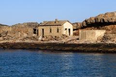 Opustoszały buiding na Halifax wyspie - Luderitz, Namibia Zdjęcia Royalty Free