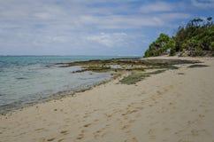 Opustoszała plaża tajemnicy wyspa w Vanuatu Obraz Stock