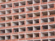 Opustoszali i całkowicie patroszyjący mieszkania w wysokim wzrosta budynku Obrazy Stock