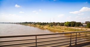 opuszczać Mekong rzeki stronę Fotografia Stock