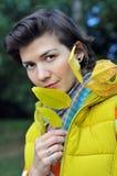 opuszczać portreta kolor żółty Zdjęcia Royalty Free