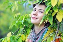 opuszczać portreta kolor żółty Fotografia Stock