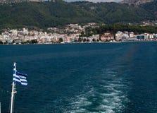 Opuszczać Igumenitsa port Obrazy Stock