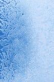 opuszcza szklaną lodową wodę Obrazy Stock