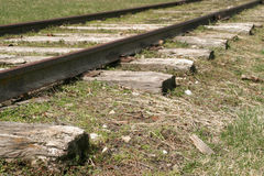 opuszczona 3 linia kolejowa Zdjęcia Royalty Free