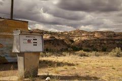 opuszczona stacja benzynowa Zdjęcia Royalty Free