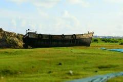 opuszczonej łodzi fotografia royalty free