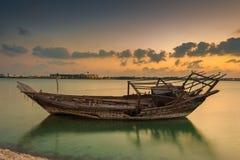 opuszczonej łodzi obraz royalty free