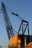 opuszczony crane budowlanych Obrazy Stock