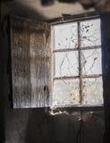 opuszczony przez okno zdjęcia stock