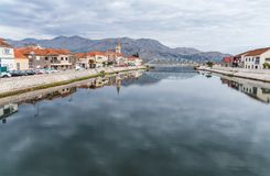 Opuzen city 3. River Neretva, Opuzen city. Croatia Royalty Free Stock Photos