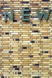 Opvallende bakstenen muur Royalty-vrije Stock Foto's