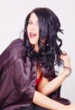 Opvallende donkerbruine vrouw Royalty-vrije Stock Foto