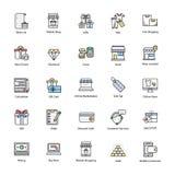 Opvallende het Winkelen en Handelspictogrammen Royalty-vrije Stock Fotografie